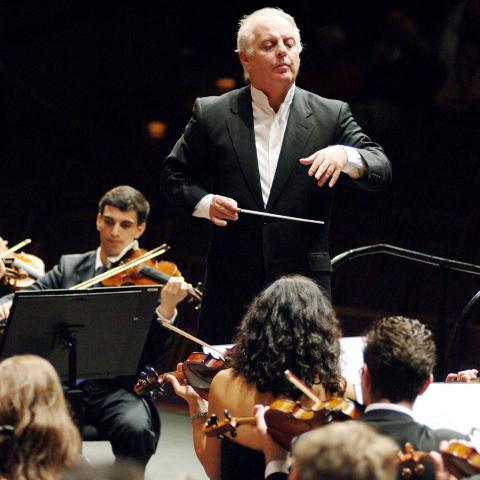 Foto des Orchesters beim Konzert