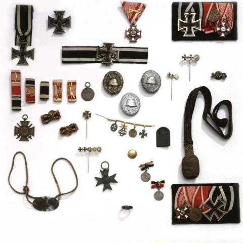 Sammlung militärischer Auszeichnungen aus dem Ersten Weltkrieg